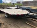Used Equipment Sales Flat Deck Trailer; Single Axle; 8 in Edmonton AB