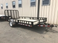 Used Equipment Sales Flat Deck Trailer; Single Axle; 83  wide in Edmonton AB